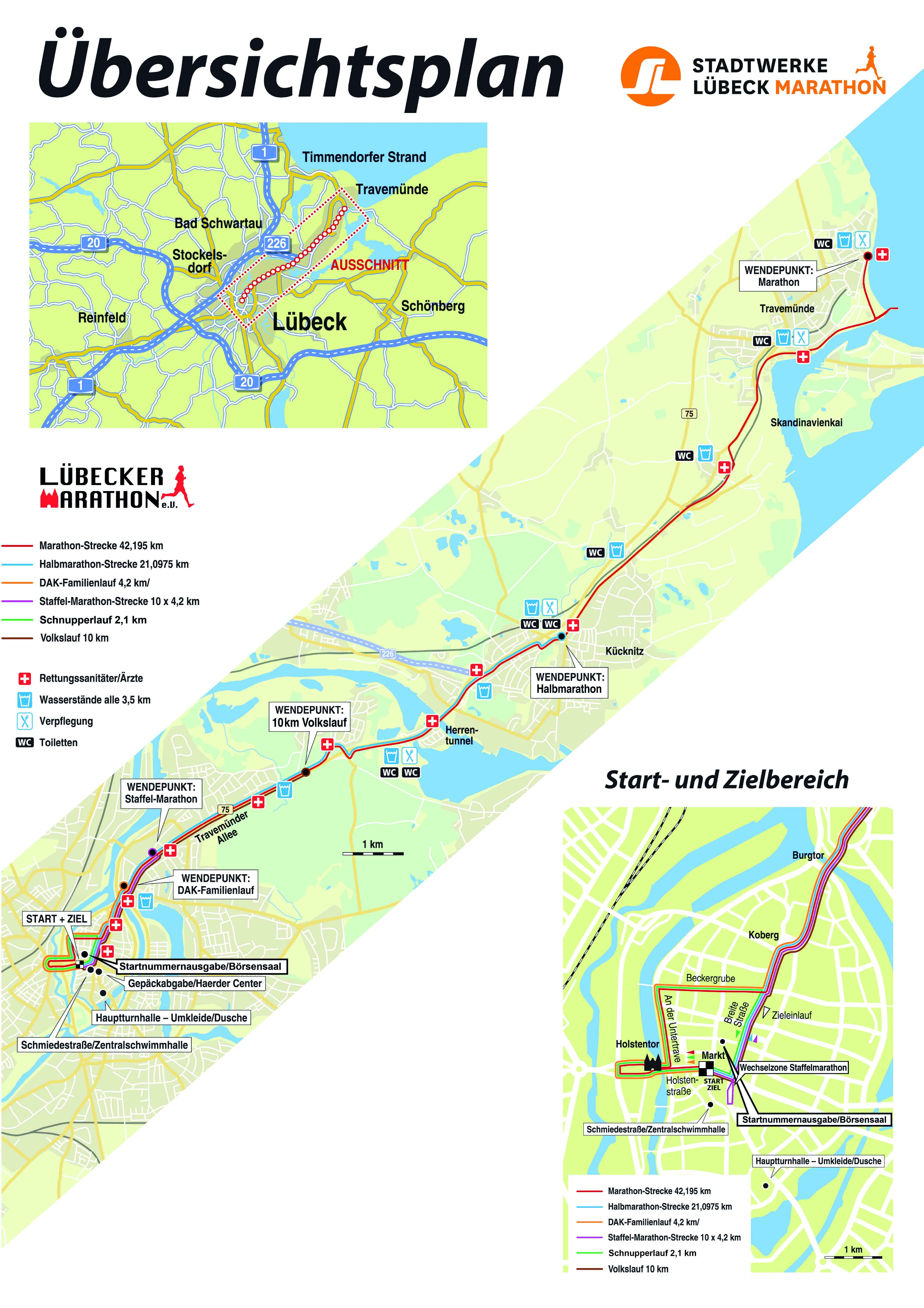Karte Lübeck.Stadtwerke Lübeck Marathon Informationen Stadtwerke Lübeck Marathon